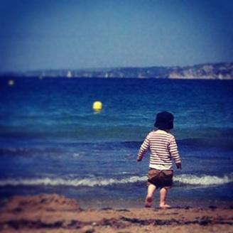 Vue plage des catalans