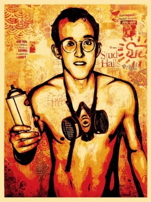 Keith Harring - 2010 - 61 x 46 cm 450 ex - Shepard Fairey Obey - Art to Be Gallery