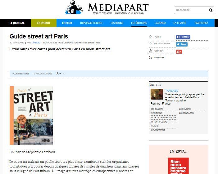 Mediapart Guide du street art