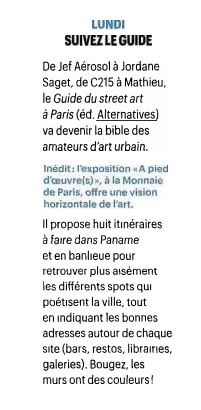 Telerama Guide du street art a paris 2