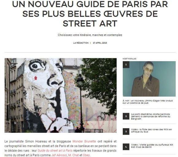 Guide du street art a paris