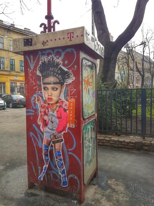 Street Art Budapest Miss KK